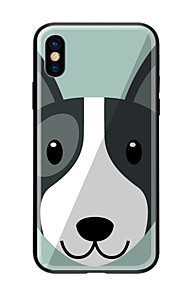 Custodia Per Apple iPhone X iPhone 8 Fantasia/disegno Per retro Con cagnolino Resistente Vetro temperato per iPhone X iPhone 8 Plus