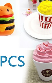 MINGYUAN Stress Reliever Popcorn / Hamburger / Creative Parent-Child Interaction / Decompression Toys / Lovely 3pcs All Gift