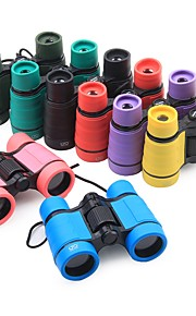4 X 30 mm Binoculars Green / Black / Red+Black / Bule / Black Camping / Hiking / Caving Portable / Lightweight