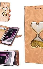Kılıf Na Samsung Galaxy J7 (2017) / J5 (2017) Portfel / Etui na karty / Z płynem Pełne etui Serce Twardość Skóra PU na J7 (2016) / J7 / J5 (2016)