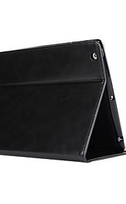Case Kompatibilitás iPad 4/3/2 Állvánnyal / Automatikus készenlét / ébresztés Héjtok Tömör szín PU bőr mert iPad 4/3/2