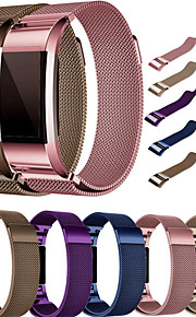 Watch Band for Fitbit Charge 2 Fitbit Milanese Loop Metal / Stainless Steel Wrist Strap