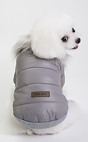 Dogs Coat Dog Clothes British Gray / Red / Blue Terylene Costume For Pets Unisex Casual / Daily / Warm Ups