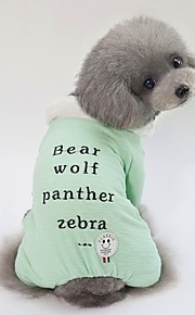 Dogs Coat Dog Clothes Character / Slogan Green / Blue / Pink Terylene Costume For Pets Unisex Sweet Style / Warm Ups