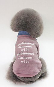 Dogs Coat Dog Clothes Character / Slogan Fuchsia / Green / Pink Plush Costume For Pets Unisex Casual / Daily / Warm Ups