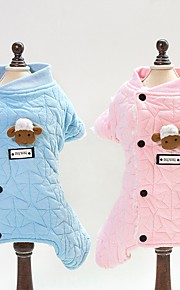 Dogs / Cats Jumpsuit Dog Clothes Plaid / Check / Toile Blue / Pink Cotton Costume For Pets Unisex Animals / Sweet