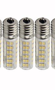 5 pezzi 4.5 W 450 lm E17 LED a pannocchia T 76 Perline LED SMD 2835 Oscurabile Bianco caldo / Luce fredda 220 V