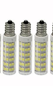5 pezzi 4.5 W 450 lm E12 LED a pannocchia T 76 Perline LED SMD 2835 Oscurabile Bianco caldo / Luce fredda 110 V