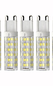 5 pezzi 4.5 W 450 lm G9 LED a pannocchia T 76 Perline LED SMD 2835 Oscurabile Bianco caldo / Luce fredda 110 V