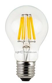 6 szt. 4 W 300 lm E26 / E27 Żarówka dekoracyjna LED A60(A19) 4 Koraliki LED LED wysokiej mocy Przygaszanie Ciepła biel