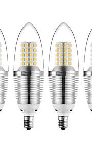 12 W LED Λάμπες Κεριά 1200 lm E12 72 LED χάντρες SMD 2835 Διακοσμητικό Θερμό Λευκό Ψυχρό Λευκό 85-265 V, 4pcs
