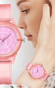 Γυναικεία Χαλαζίας Χαλαζίας Κομψό σιλικόνη Μαύρο / Λευκή / Κόκκινο Νεό Σχέδιο Καθημερινό Ρολόι Αναλογικό Καθημερινό Μοντέρνα - Ανθισμένο Ροζ Βυσσινί Ροδακινί Ενας χρόνος Διάρκεια Ζωής Μπαταρίας