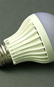 5 W LED Λάμπες Σφαίρα 270-370 lm E26 / E27 18 LED χάντρες Ενεργοποίηση Ήχου Ψυχρό Λευκό 220-240 V, 1pc