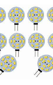 3 W LED Φώτα με 2 pin 300 lm G4 12 LED χάντρες SMD 5730 Διακοσμητικό Λατρευτός Θερμό Λευκό Ψυχρό Λευκό 12 V, 10pcs