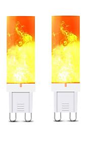3 W LED Φώτα με 2 pin 240-300 lm G9 T 36 LED χάντρες SMD 2835 3D πυροτεχνήματα Θερμό Λευκό 220 V, 2pcs