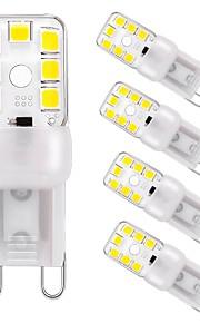 3 W LED Φώτα με 2 pin 240 lm G9 T 12 LED χάντρες SMD 2835 Με ροοστάτη Διακοσμητικό Θερμό Λευκό Ψυχρό Λευκό 220 V, 5pcs