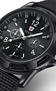 d0e8be188 رجالي ساعة عسكرية كوارتز نايلون أسود / أزرق / قرنفلي 30 m مقاوم للماء تصميم  جديد