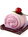 rose serviette style de gâteau