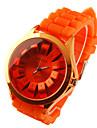 Women's Chrysanthemum Style Dial Silicone Band Quartz Analog Wrist Watch (Orange) Cool Watches Unique Watches