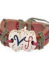 Fashion Leather Handmade Zodiac Bracelet-Virgo (BSS23)