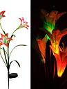 1шт свет сада / Свет газонные Светодиодные бусины Высокомощный LED Перезаряжаемый / Декоративная Разные цвета