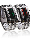 Double Row Arrayed Couple Style Men Green and Women Red LED Wrist Watch Cool Watches Unique Watches