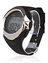 남성 손목 시계 디지털 LCD 달력 크로노그래프 경보 심장 박동수 모니터 고무 밴드 블랙