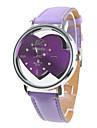 여성과 소녀의 아날로그 석영 손목 시계 (보라색)