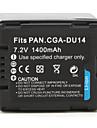 цифровая видеокамера аккумулятор для Panasonic NV-GS10 (7.2V, 1400mAh)