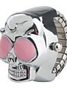 Жен. Кварцевый Часы-кольцо Японский Повседневные часы сплав Группа Череп Серебристый металл