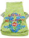 algodão estilo havaiano t-shirt (xs-xxl, verde)