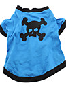 Dog Costume Shirt / T-Shirt Outfits Dog Clothes Breathable Cosplay Halloween Skulls Animal Blue Costume For Pets