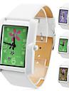 Unisex PU Analog Quartz Wrist Watch (White)