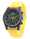 Unisex's Silicone Analog Quartz Wrist Watch (Yellow) Cool Watch Unique Watch