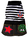 Striped Sailor Style Dress for Dogs (XS – XL, Black)