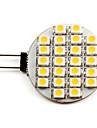 2700lm G4 Точечное LED освещение 24 Светодиодные бусины SMD 3528 Тёплый белый 12V