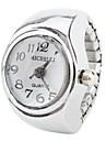 женский стильный сплава аналоговый кольцо кварцевые часы (серебро)
