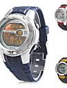 мужская многофункциональный цифровой резинкой наручные часы (разные цвета)