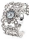 Women's Antique Alloy Style Analog Quartz Bracelet Watch (Silver)