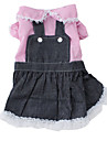 Princess Style Denim Dress for Dogs (XS-XL, Pink)