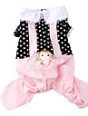 Dog Coat Black Dog Clothes Spring/Fall Polka Dots