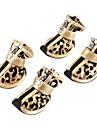 Gatos / Cães Sapatos e Botas Dourado / Prateado Primavera/Outono Pele PU Animal / Leopardo,Cão Sapatos