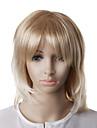 capless moda peruca loira cabelo liso ondulado