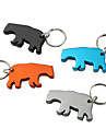 Bear Shaped Bottle Opener Keychain (Random Color)