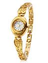 Mulheres Bracele Relógio Quartzo Banda Heart Shape Elegantes Dourada Dourado