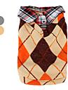 colete de malha de lã com camisa de colarinho para cães (xs-xl, cores sortidas)