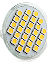 4w e14 gu10 gu5.3 (mr16) e26 / e27 spotlight conduzido mr16 27 smd 5050 200-250lm branco quente branco natural 2800k