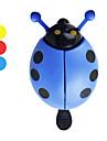 cykel ladybug-form klokke (3 farver)