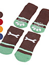 Dog Socks Casual/Daily Keep Warm Bone Orange Brown Red Blue For Pets
