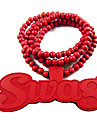 """SWAG"" Wooden Necklace"